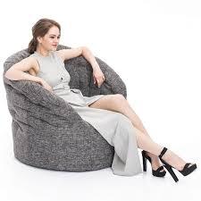 interior bean bags chair butterfly sofa luscious grey bean