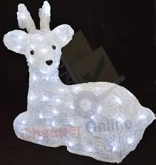 43cm 80 leds acrylic christmas reindeer decoration indoor