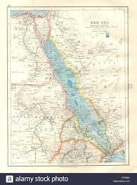 Eritrea Map Red Sea Egypt Eritrea Hedjaz Asir Yemen Nile Valley Sudan Stock