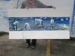 artist paints her favorite subject on stunning mural on east end a rendering of what the mural will be upon completion