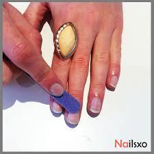applying false nail tips at home nailsxo