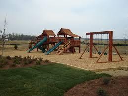 wood playground mulch