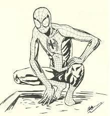 ultimate spider man sketch by cagscreations on deviantart