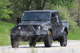 jeep truck spy photos spy shots 2019 jeep wrangler pickup truck spotted in michigan