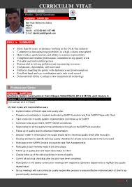 Training Coordinator Resume Qaqc Coordinator Cv
