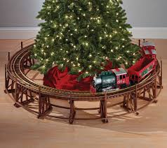 manhattan railway christmas tree train trestle set green head