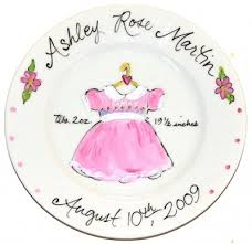 painted platters personalized 55 best baby images on pottery painting ceramic