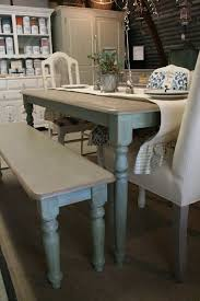 blue painted dining table 37 best chalk paint dining tables images on pinterest furniture