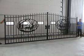 new driveway wrought iron ornamental entrance gate 20 ft 14 ft