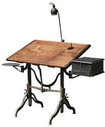Old Drafting Table This Morning Made This Thing To Hold Crap On A Slanted Drawing