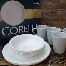Corelle Dish Sets Simply Food Corelle Embossed Bella Faenza 16 Pc Dinnerware Set