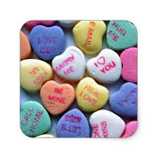 sweetheart candy day conversation hearts candy stickers zazzle