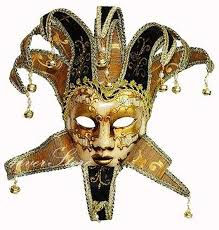 jesters mask traditional venetian theatre masquerade mask jester mask