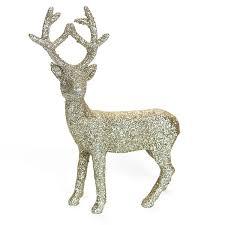 silver glitter reindeer decoration 3 sizes pipii