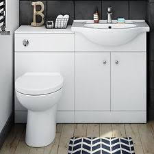 White Vanity Sink Unit Toilet Basin Vanity Units Ebay
