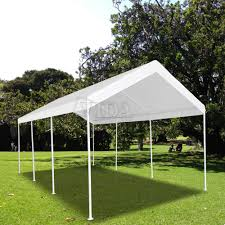10x20 Garage Patio 10x20 Feet Heavy Duty Garage Outdoor White Carport Car