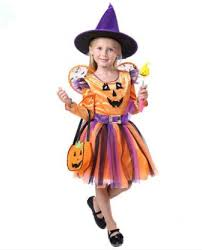 Girls Pumpkin Halloween Costume Free Shipping Buy Halloween Witch Costume Girls