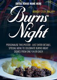 posters cuisine burns poster a2 promote your pub