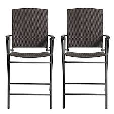 brushed wicker folding balcony chairs set of 2 bed bath u0026 beyond