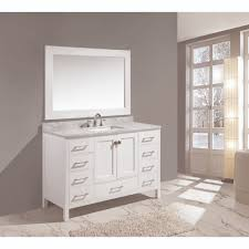 design element dec082d w london white single basin bathroom vanity