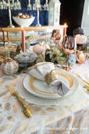 Fall Table Settings by Beautiful Gold And Copper Fall Table Setting