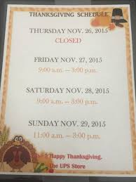 2015 thanksgiving schedule yelp