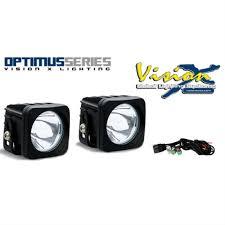 long range optimus led auxiliary light round adventure spec led auxiliary lighting visionx optimus series dual