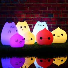 usb cat night light 7 color changing usb silicone led cat night light soft baby nursery