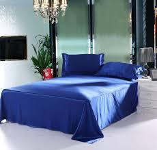 Chinese Silk Duvet Goldwhiteblue Jacquard Silk Bedding Set Luxury 46pcs Satin Bed Set