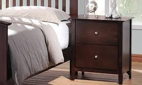 modern dark wood nightstands groupon goods