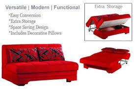 Modern Loveseat Sofa Upholstered Loveseat Sofa Sleeper Red Space Saver Futon The
