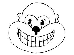printable monkey template kids coloring
