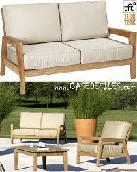 canape teck canapé bas teck design de jardin 2 pl 5001