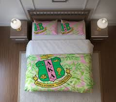 Customized Duvet Covers Aka Duvet Cover Or Comforter Set Personalized Alpha Kappa Alpha