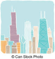 stock illustrations of chicago skyline sketch pencil sketch of