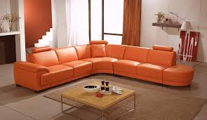 orange wave sofa leather sectionals