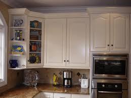 Kitchen Corner Cabinet Corner Cupboard Solutions Dark Brown Wooden Round Stool Dark Brown