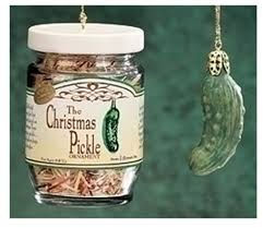 2 exclusive pickle and decorated glass jar