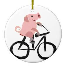 pink pig ornaments keepsake ornaments zazzle