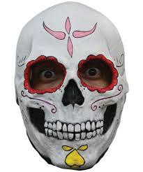 catrina skull latex mask