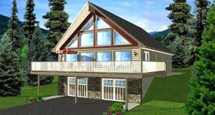 walkout house plans walkout basement home plans a frame house plan elevation hillside