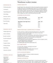 Stocker Job Description For Resume by Cozy Ideas Duties Of A Warehouse Worker For Resume 3 Warehouse