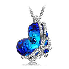 titanic necklace swarovski crystal images Qianse 2018 graduation gifts 925 sterling silver jpg