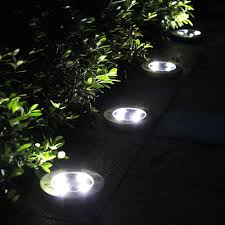 Solar Lights For Driveway by Tomshine 4pcs 4 Led Solar Lights Outdoor Ground Lights Water