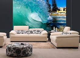 barreling wave surfing wall mural and removable sticker interior barreling wave surfing wall mural and removable sticker