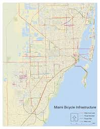 Miami City Map by Miami Biking