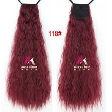 ribbon ponytail 60cm 110g best quality taro curly ribbon ponytail hairpiece