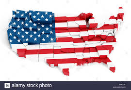 usa map in blue and red colors stock photo royalty free image
