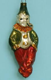 glass christmas ornaments clowns