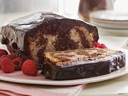 chocolate marble cake with chocolate frosting food post